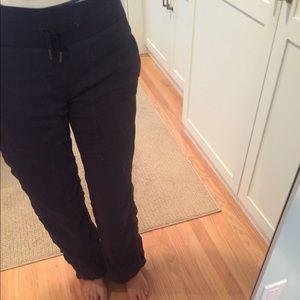 Lululemon drawstring pants dark blue/purple 4